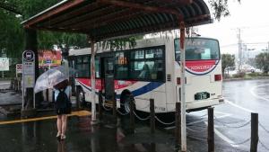 森林公園駅からバスに乗車